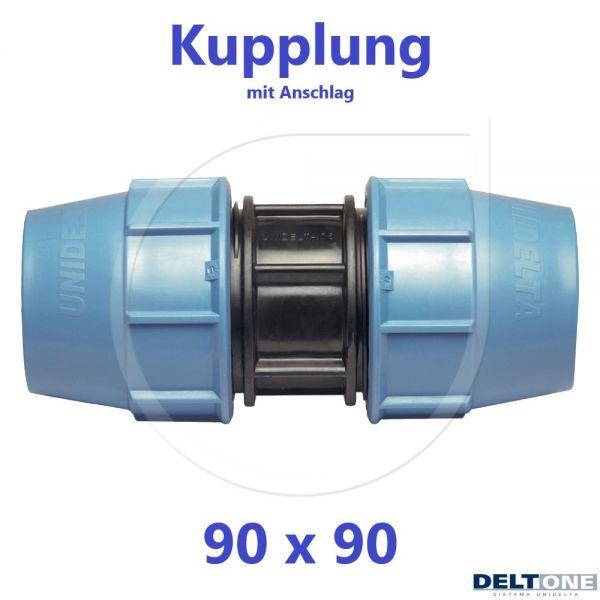 UNIDELTA Klemmverbinder Kupplung 90mm DN80 DeltOne