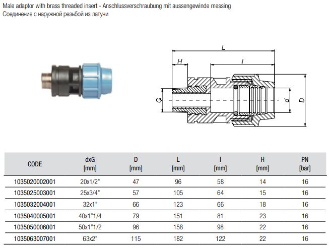 208020-Abmessungen-Anschlussverschraubungen-mit-Messing-Aussengewinde