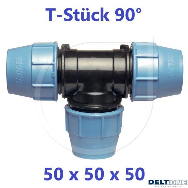 UNIDELTA Klemmverbinder  T-Stück 90° 50mm DN40