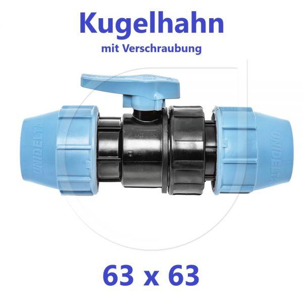 UNIDELTA Klemmverbinder  Kugelhahn Klemm x Klemm 63mm DN50