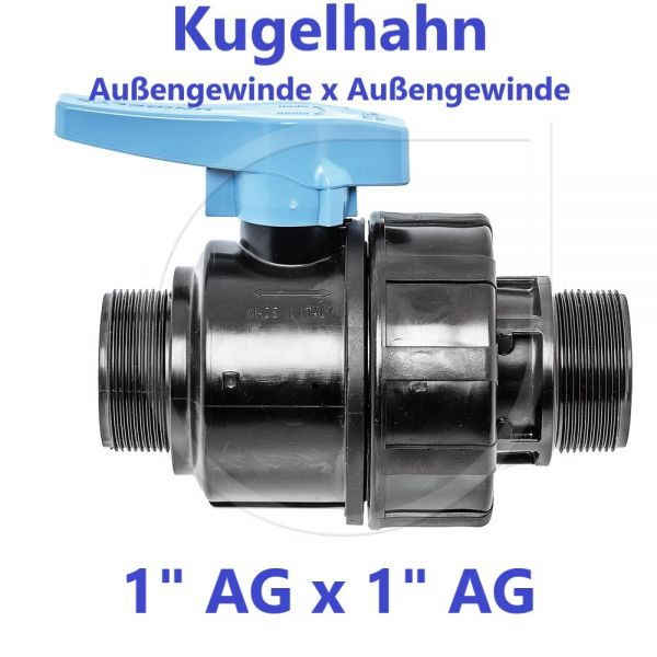 """UNIDELTA Klemmverbinder Kugelhahn Außengewinde x Außengewinde 1"""" AG x 1"""" AG"""