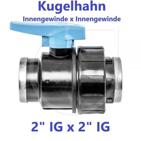 """UNIDELTA Klemmverbinder Kugelhahn Innengewinde x Innengewinde 2"""" IG x 2"""" IG"""
