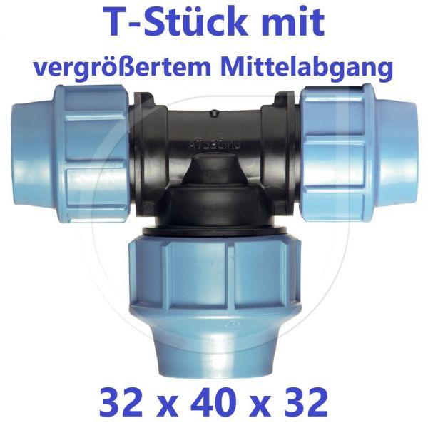 UNIDELTA Klemmverbinder T-Stück 90° vergrößert 32 x 40 x 32
