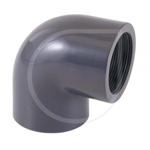 PVC Übergangswinkel 90° mit Innengewinde