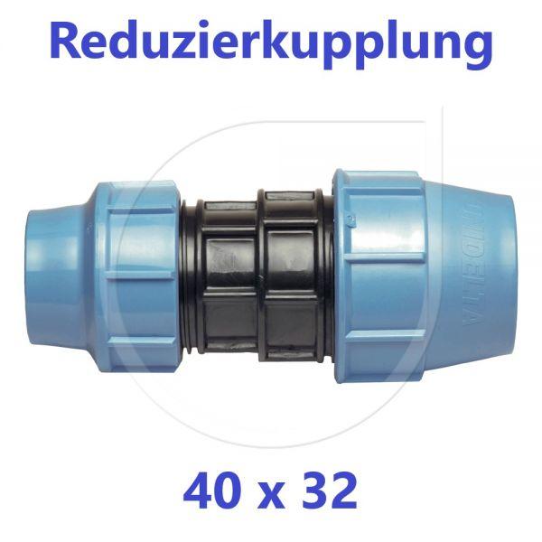 UNIDELTA Klemmverbinder Reduzierkupplung 40 x 32mm DN32xDN25