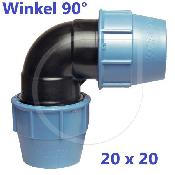 UNIDELTA Klemmverbinder 90° Winkel 20mm DN15