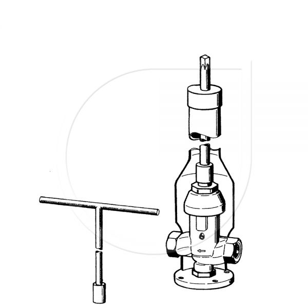 Haupthydrant mit Steigeschlüssel