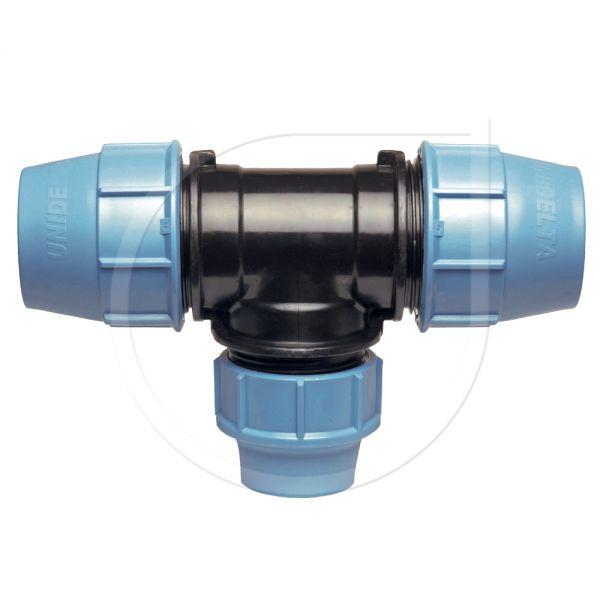UNIDELTA Klemmverbinder T-Stück mit reduziertem Mittelabgang 90°