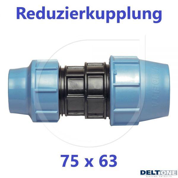 UNIDELTA Klemmverbinder Reduzierkupplung 75 x 63mm DN65xDN50 DeltOne