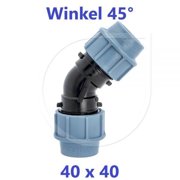 UNIDELTA Klemmverbinder 45° Winkel 40mm DN32