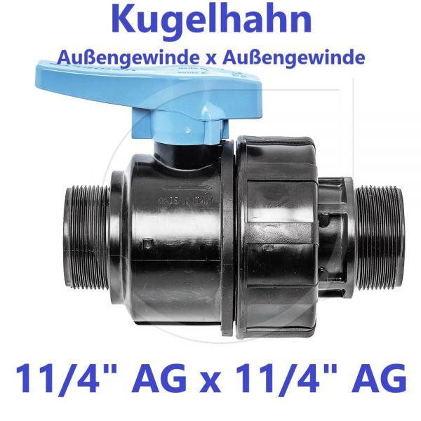 """UNIDELTA Klemmverbinder Kugelhahn Außengewinde x Außengewinde 11/4"""" AG x 11/4"""" AG"""