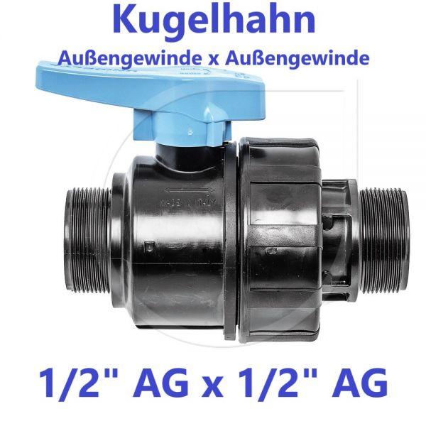 """UNIDELTA Klemmverbinder Kugelhahn Außengewinde x Außengewinde 1/2"""" AG x 1/2"""" AG"""