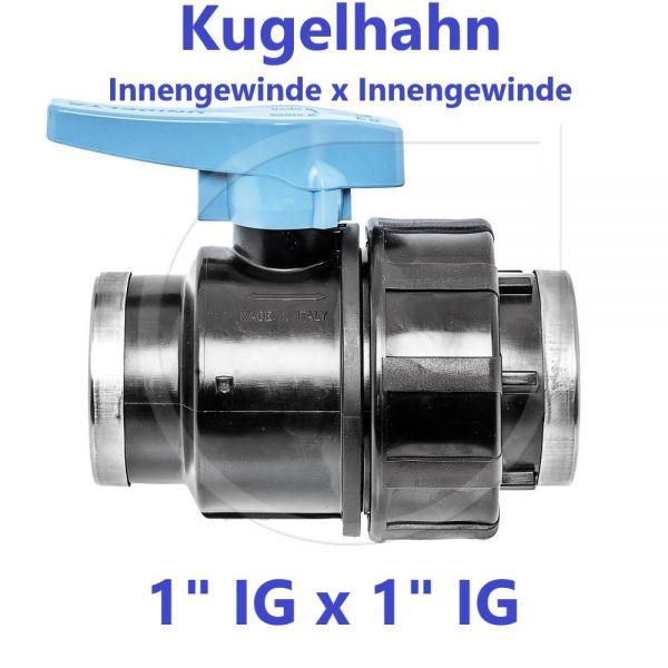 """UNIDELTA Klemmverbinder Kugelhahn Innengewinde x Innengewinde 1"""" IG x 1"""" IG"""