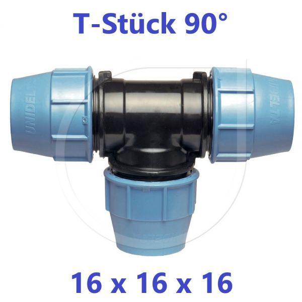 UNIDELTA Klemmverbinder T-Stück 90° 16mm DN10