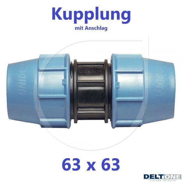 UNIDELTA Klemmverbinder Kupplung 63mm DN50 DeltOne