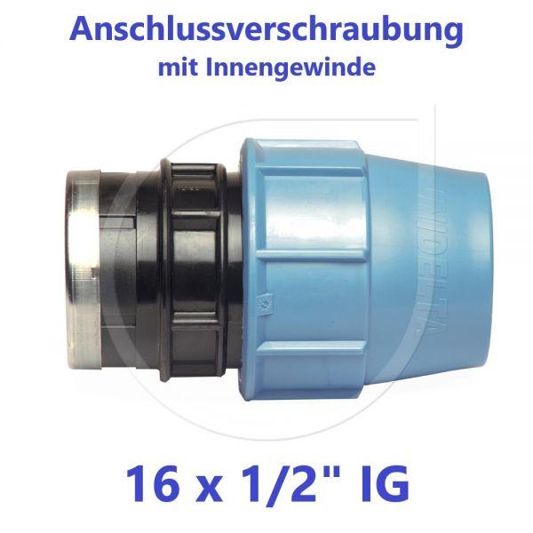 """UNIDELTA Klemmverbinder Anschlussverschraubung mit Innengewinde 16 x 1/2"""""""