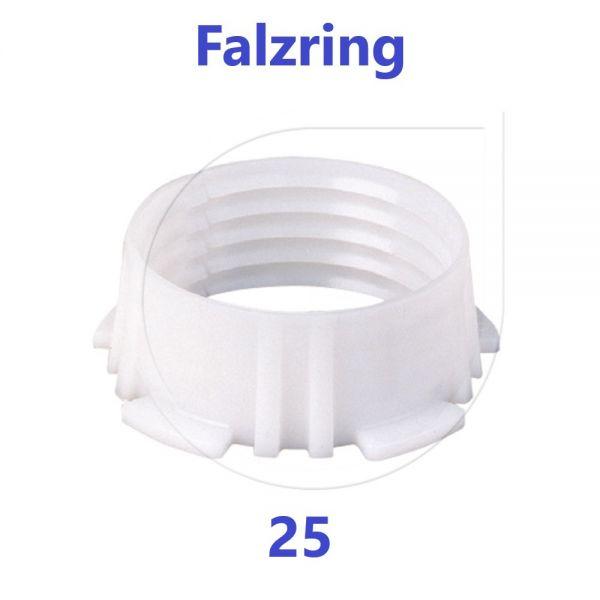 UNIDELTA Klemmring Ersatzteil Falzring 25 mm