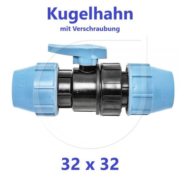 UNIDELTA Klemmverbinder  Kugelhahn Klemm x Klemm 32mm DN25