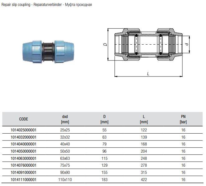 Abmessungen-Reparaturkupplung-Code-1014