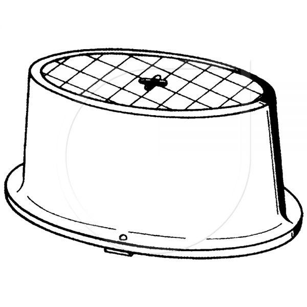 Hahnkasten oval