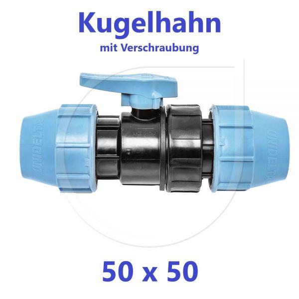 UNIDELTA Klemmverbinder Kugelhahn Klemm x Klemm 50mm DN40