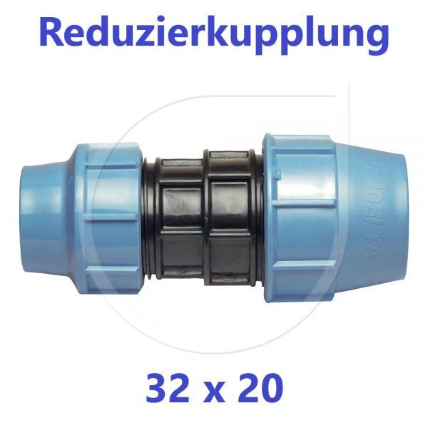 UNIDELTA Klemmverbinder Reduzierkupplung 32 x 20mm DN25xDN15