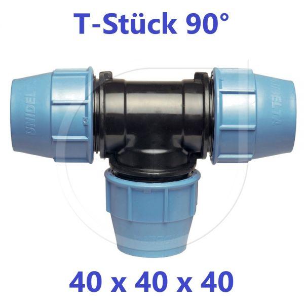 UNIDELTA Klemmverbinder  T-Stück 90° 40mm DN32