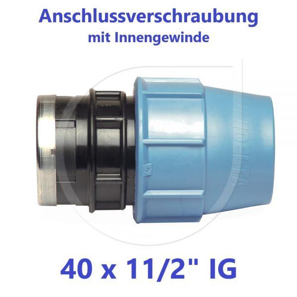 """UNIDELTA Klemmverbinder Anschlussverschraubung mit Innengewinde 40 x 11/2"""""""
