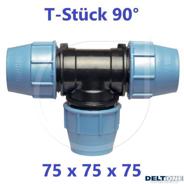 UNIDELTA Klemmverbinder  T-Stück 90° 75mm DN65