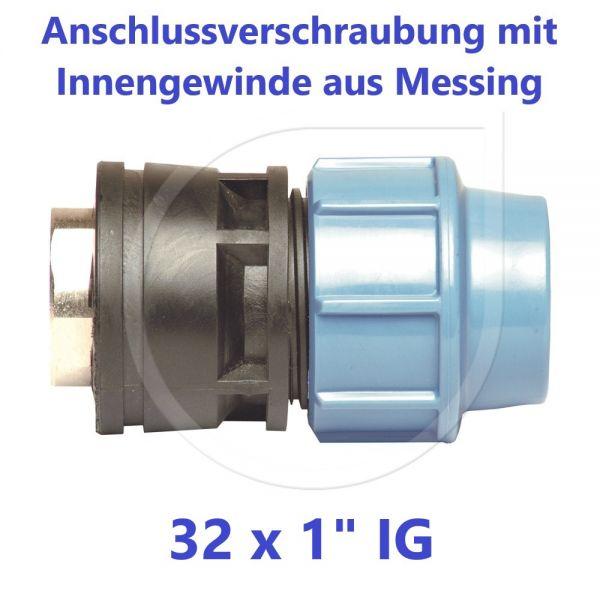 """UNIDELTA Klemmverbinder Anschlussverschraubung mit Messing Innengewinde 32 x 1"""""""