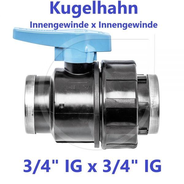 """UNIDELTA Klemmverbinder Kugelhahn Innengewinde x Innengewinde 3/4"""" IG x 3/4"""" IG"""