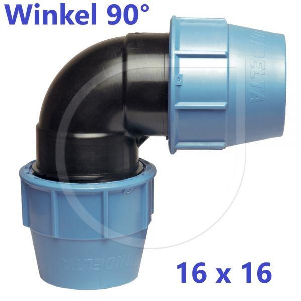UNIDELTA Klemmverbinder 90° Winkel 16mm DN10