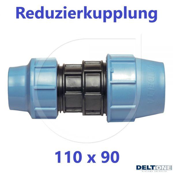 UNIDELTA Klemmverbinder Reduzierkupplung 110 x 90mm DN100xDN80 DeltOne