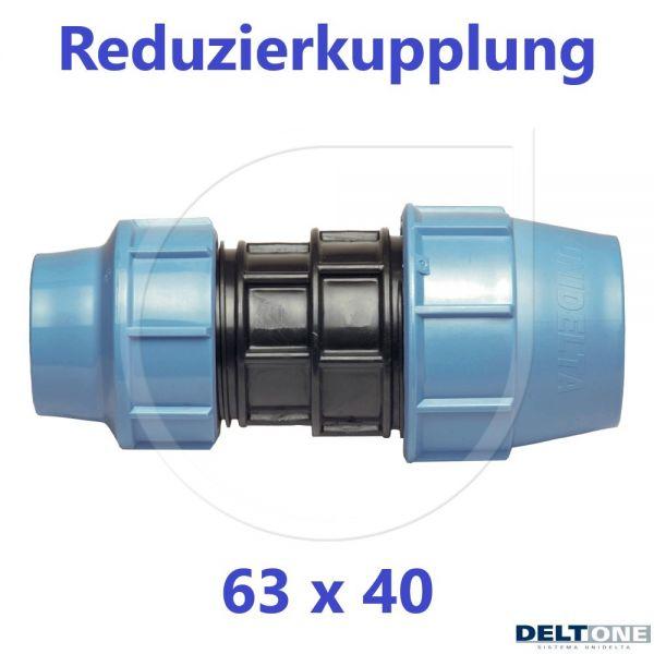 UNIDELTA Klemmverbinder Reduzierkupplung 63 x 40mm DN50xDN32 DeltOne