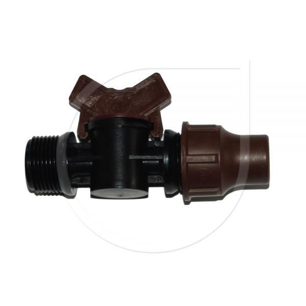 """Lock Type Kugelhahn 16/17mm x 3/4"""" AG"""