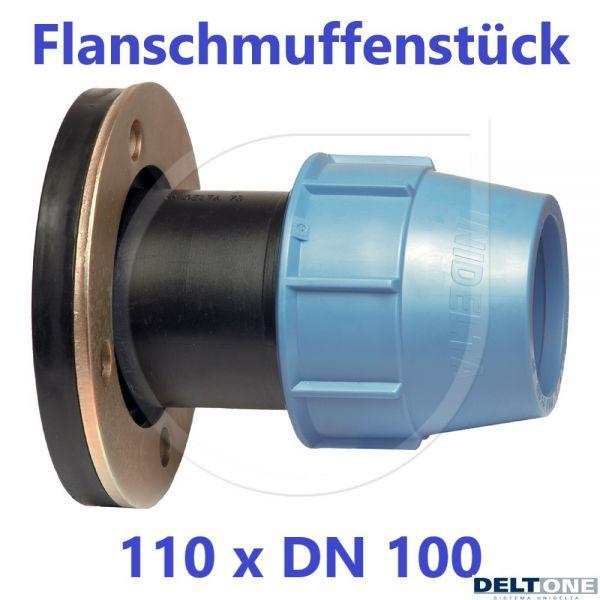 UNIDELTA Klemmverbinder Flanschmuffenstück 110 mm x DN 100