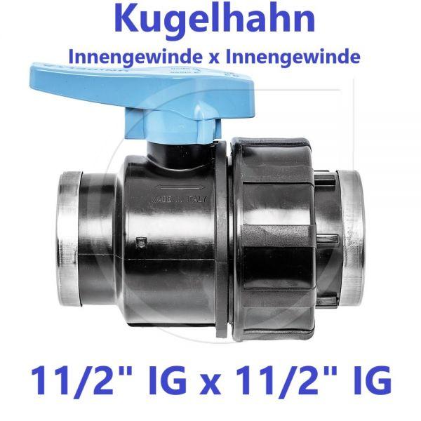 """UNIDELTA Klemmverbinder Kugelhahn Innengewinde x Innengewinde 11/2"""" IG x 11/2"""" IG"""