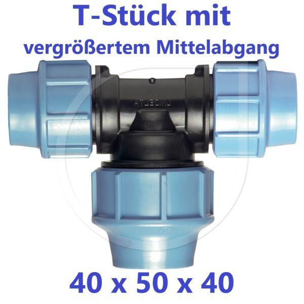 UNIDELTA Klemmverbinder T-Stück 90° vergrößert 40 x 50 x 40