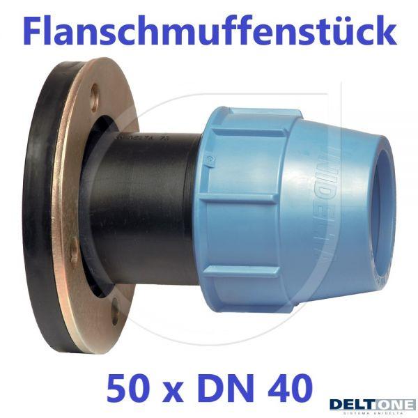 UNIDELTA Klemmverbinder Flanschmuffenstück 50 mm x DN 40