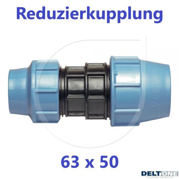 UNIDELTA Klemmverbinder Reduzierkupplung 63 x 50mm DN50xDN40 DeltOne