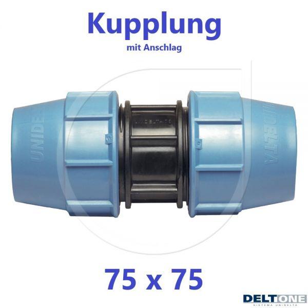 UNIDELTA Klemmverbinder Kupplung 75mm DN65 DeltOne