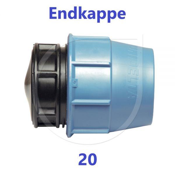 UNIDELTA Klemmverbinder Endkappe Stopfen 20mm DN15