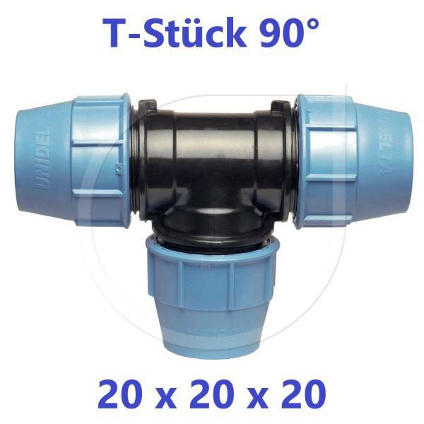 UNIDELTA Klemmverbinder T-Stück 90° 20mm DN15