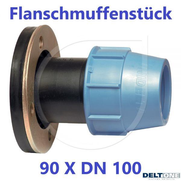 UNIDELTA Klemmverbinder Flanschmuffenstück 90 mm x DN 100