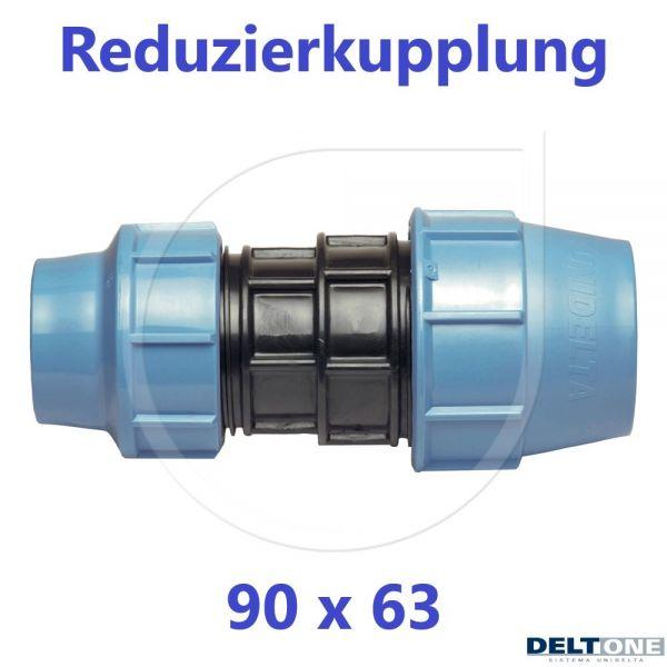 UNIDELTA Klemmverbinder Reduzierkupplung 90 x 63mm DN80xDN50 DeltOne