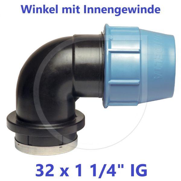 """UNIDELTA Klemmverbinder Winkel mit Innengewinde 32 x 11/4"""""""