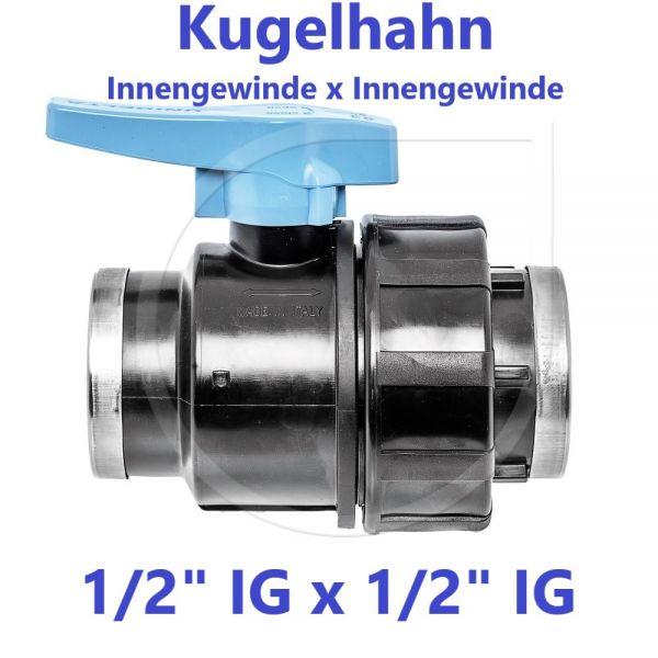 """UNIDELTA Klemmverbinder Kugelhahn Innengewinde x Innengewinde 1/2"""" IG x 1/2"""" IG"""